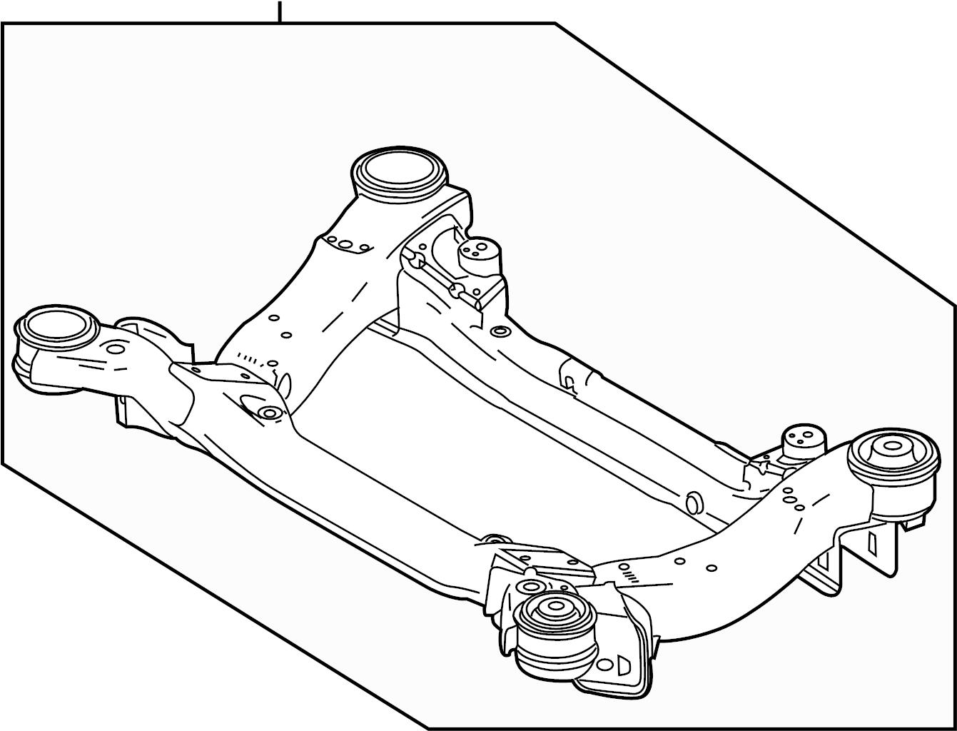 Jaguar Xjr Engine Cradle Frame Front Suspension
