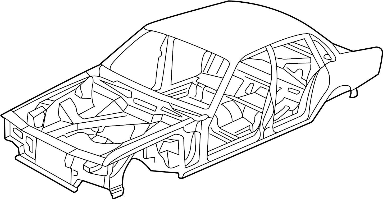 Jaguar XJR Body assy. BODYSHELL. W/o sunroof, w/short