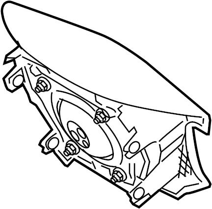 Jaguar XJ8 Steering Wheel Air Bag. Inflator, Module