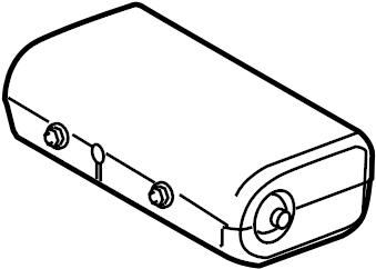 Jaguar XJ8 Instrument Panel Air Bag. Inflator, Module