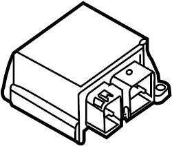 Jaguar Vanden Plas Air Bag Control Module. Air Bag Control