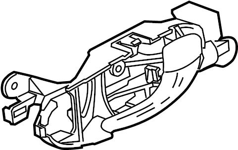 Jaguar Vanden Plas Interior Door Handle. LOCK, Inside