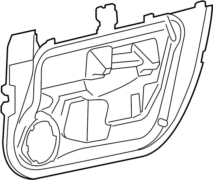 Jaguar XJ8 Door Water Deflector. Left, FRONT, Panel