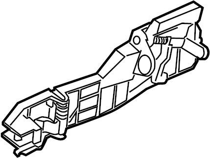 Jaguar XJ8 Exterior Door Handle. Outside, Rear, Left
