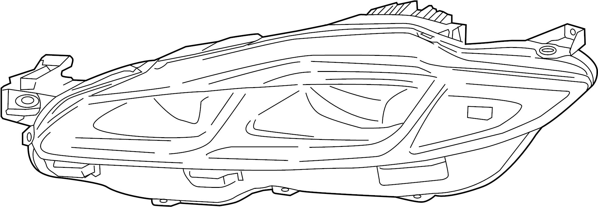 Jaguar XJ Headlamp ASSEMBLY. Headlight. 2016-18. Front