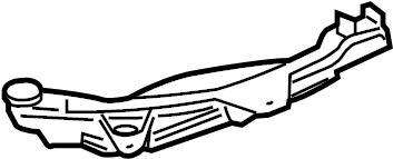 Jaguar XJ Engine Coolant Reservoir Bracket. Reservoir tank
