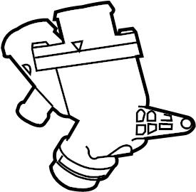 Jaguar F-Type Thermostat. Coolant. Engine. Housing. Unit