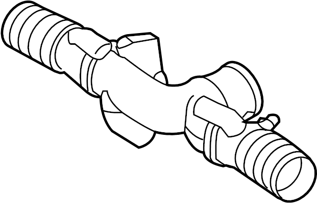 Jaguar XJ Intake tube. TUBE-AIR INTAKE. 5.0 LITER W/O
