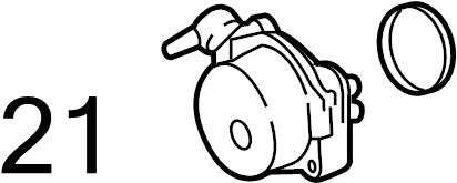 Jaguar XF Power Brake Booster Vacuum Pump Seal. Vacuum