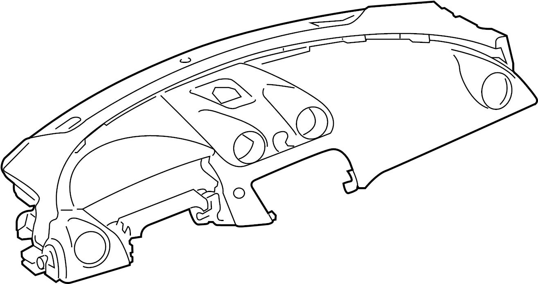 Jaguar XJ Dashboard Panel. Instrument, Ebony, Make