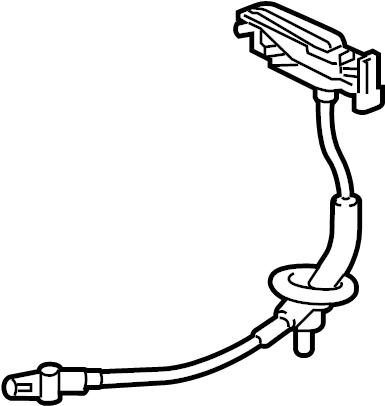 Jaguar XKR-S Automatic Transmission Shifter Cable. Brake