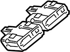 Jaguar XJ Seat Heater Control Module. TRACKS, ComponentS