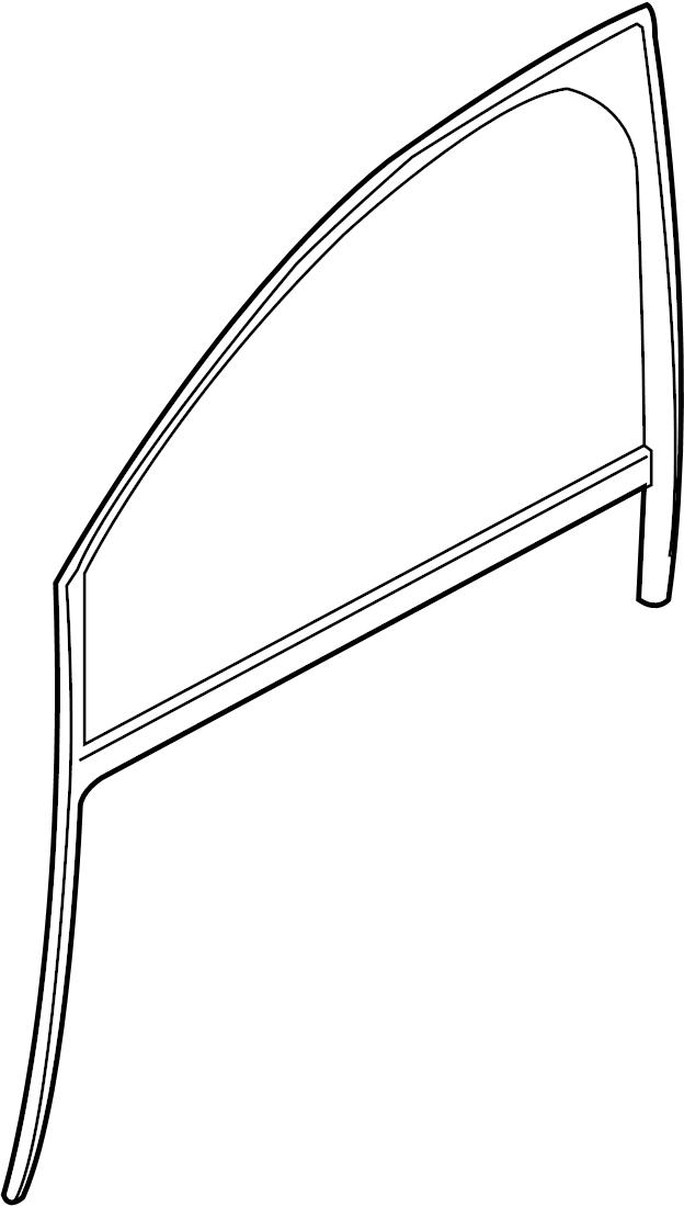 Jaguar XJ Window Channel. XF; Lower; 3.0L; RWD; Downpipe