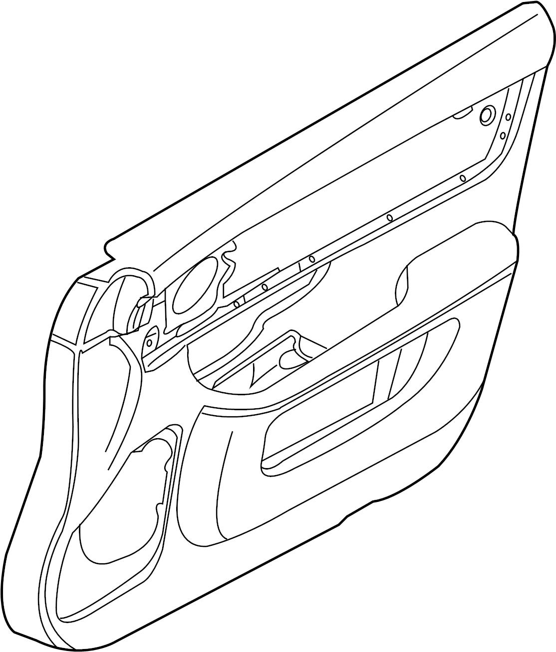 Jaguar Xj Door Interior Trim Panel Leather Navy Grain