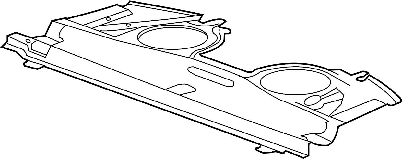 Jaguar XJR Package Tray Insulator. PARCEL, Shelf