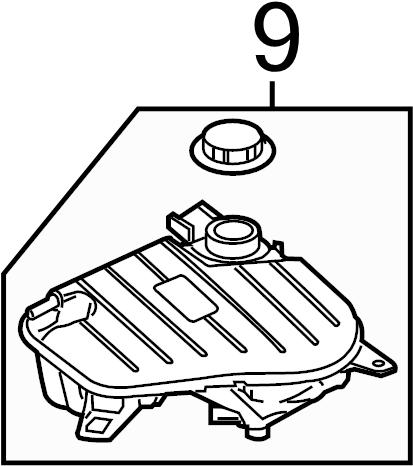 Jaguar XK Cap. Reservoir. Engine Coolant. Radiator