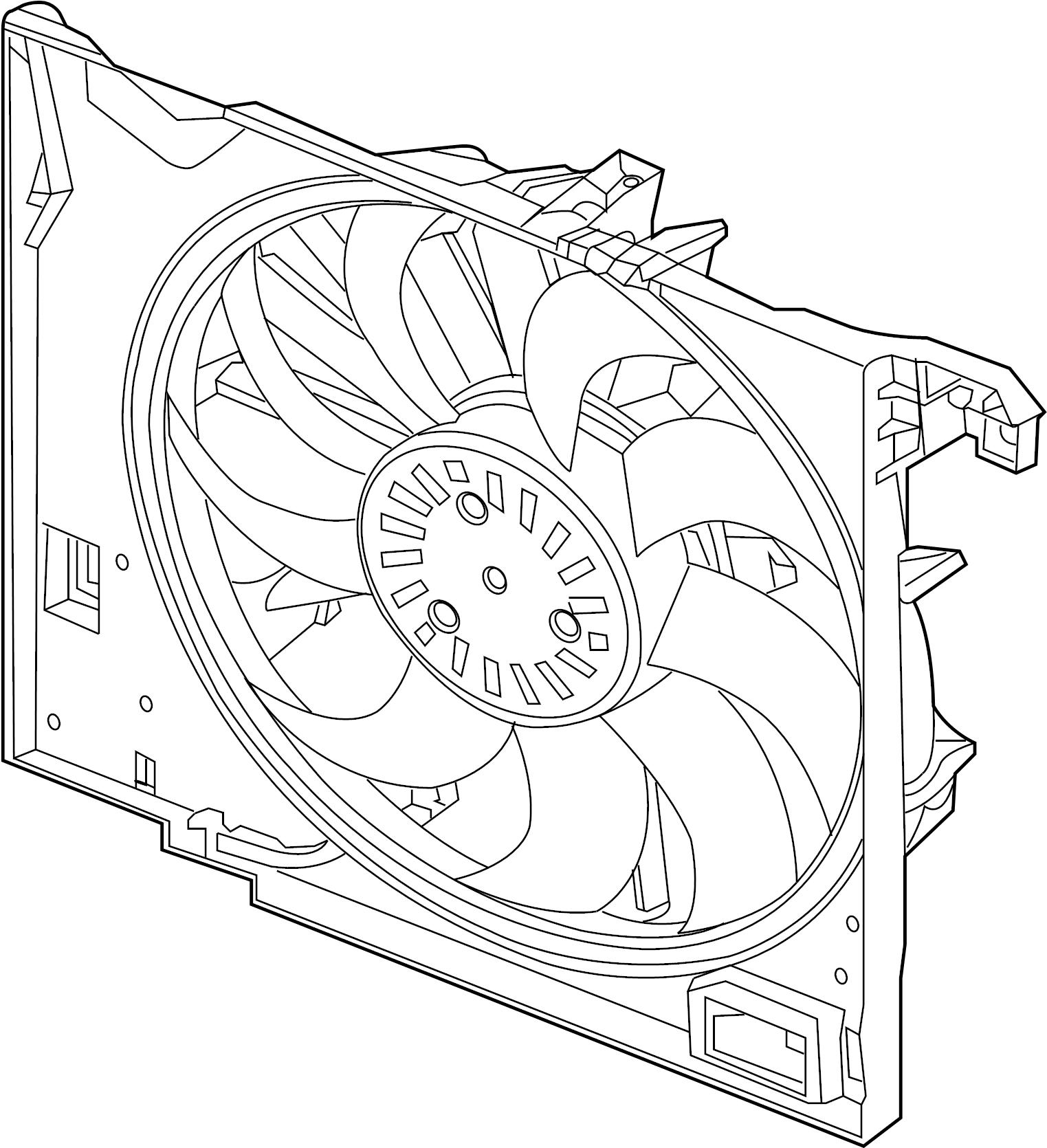 Jaguar XJ Engine Cooling Fan Assembly. LITER