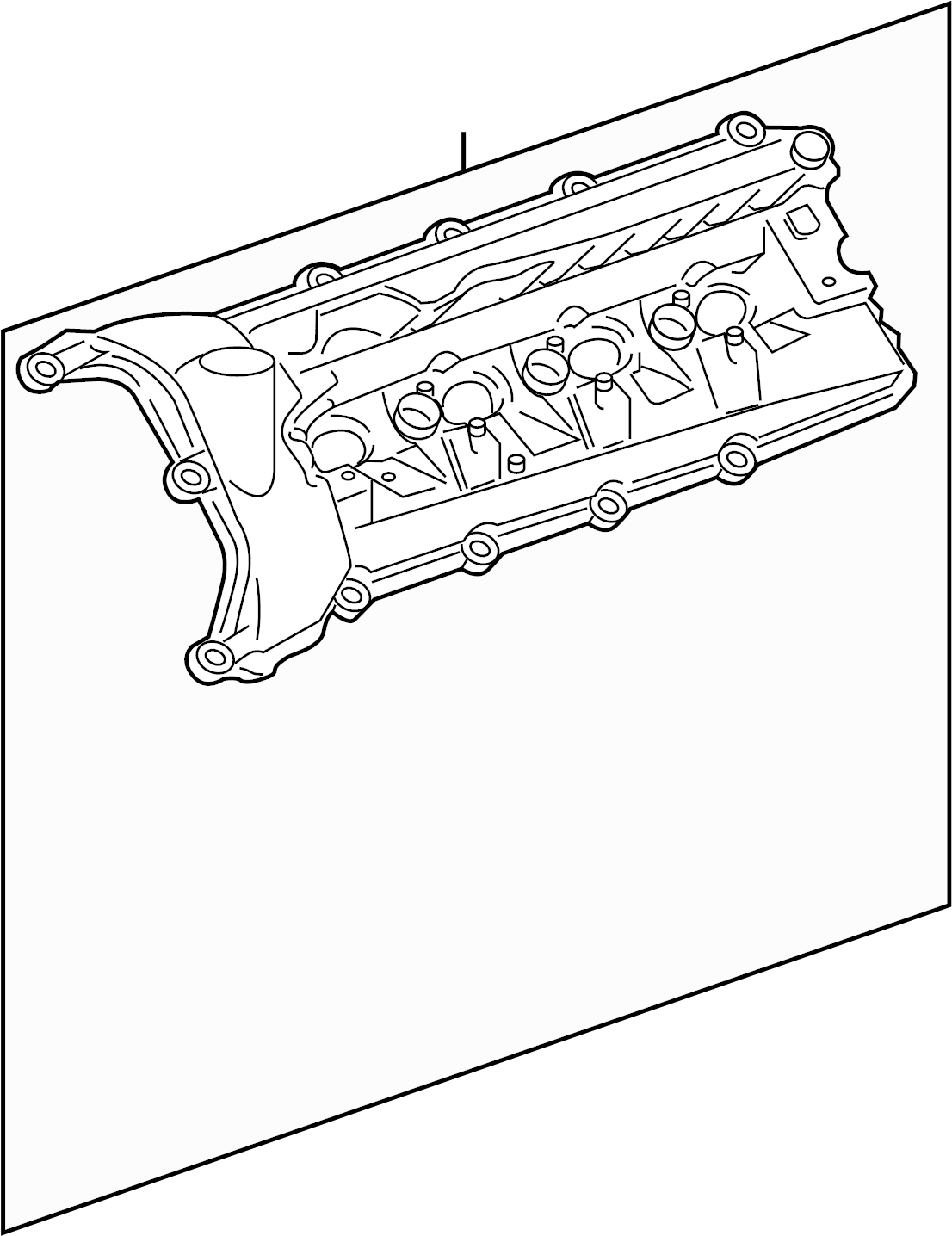 Jaguar Xe Engine Valve Cover Upper