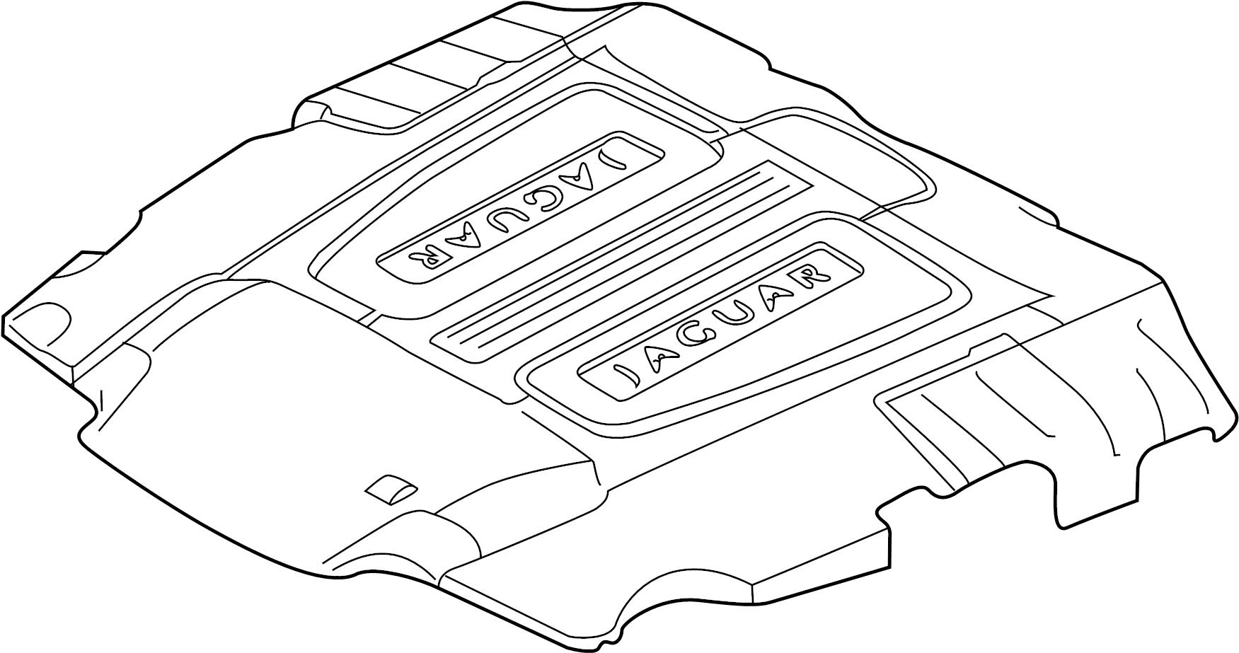 Jaguar Xfr S Engine Cover Liter Wsupercharger