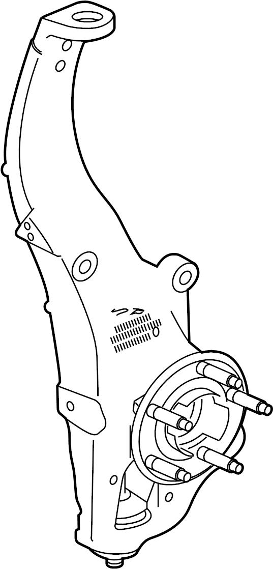 Jaguar XJR575 Steering Knuckle. Series, Left, Suspension