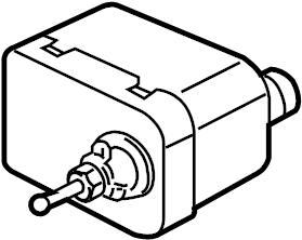 Jaguar XJ8 Headlight Motor. W/LAMP WASHER. W/O LAMP WASHER