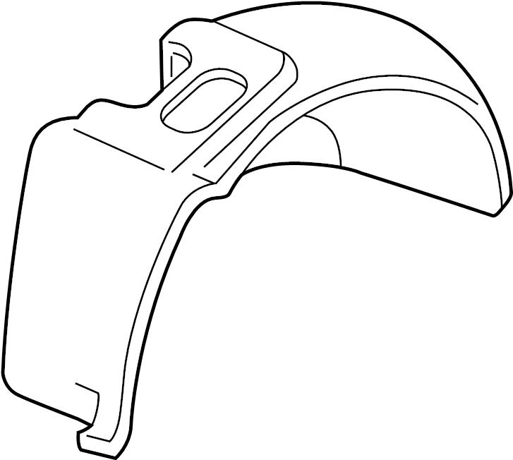 Jaguar XKR Fender Splash Shield (Front). Rear