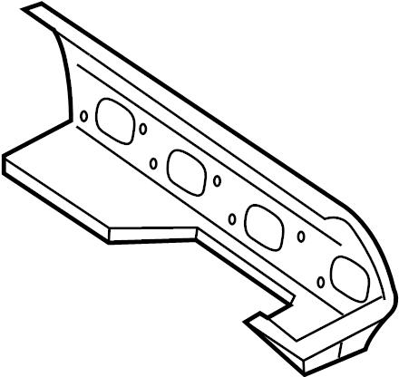 Jaguar XK8 Exhaust Manifold Gasket. Right, SYSTEM