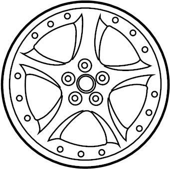 Jaguar XKR Wheel, alloy. WHEEL-ROAD-ALLOY. 2003-06