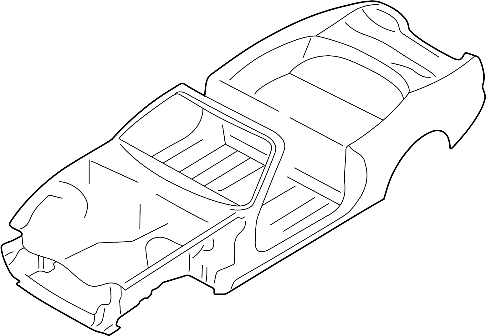 Jaguar XK8 Vehicle Body Shell. Convertible, from V031303