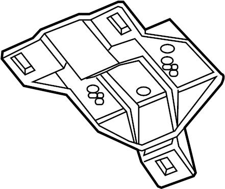 Jaguar XKR Console Bracket. Overhead console bracket