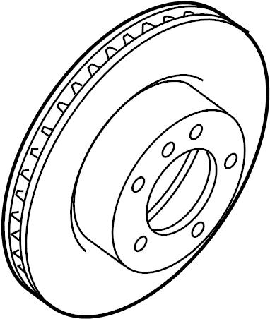 Jaguar XKR Disc Brake Rotor. SUSPENSION, REAR, Pkg