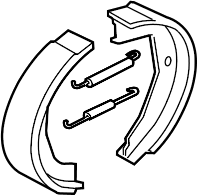 Jaguar XJR Parking Brake Shoe. Shoes, Convertible, REAR