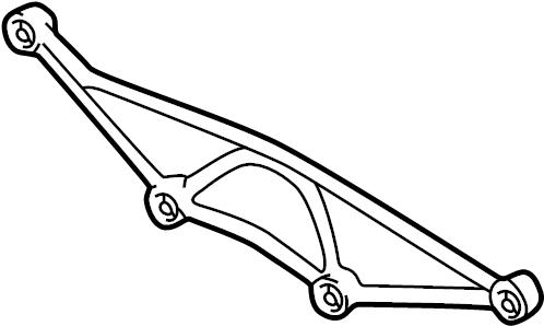 Jaguar XJR Differential Housing Support. Sedan; w