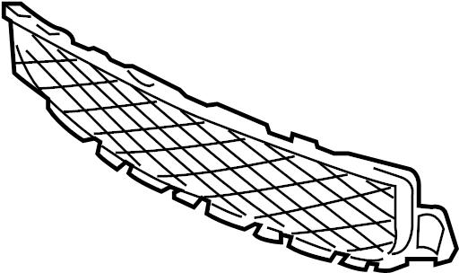 Jaguar S-Type Bumper grille. MESH-GRILLE. 2005-07 W