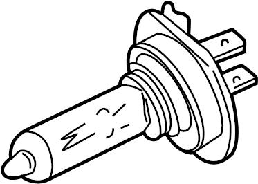 Jaguar XF Headlamp bulb. Headlight bulb. High beam bulb