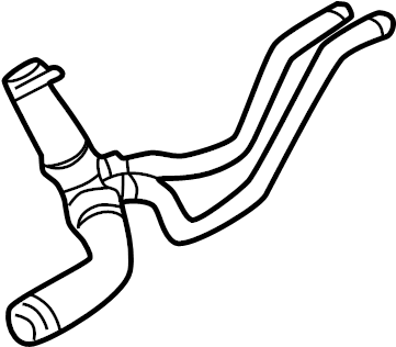 Jaguar S-Type Lower hose. LOWER return hose. Radiator