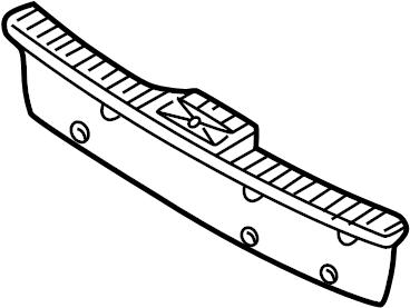 Jaguar S-Type Finisher-trunk l. Rear sill plate. Trunk