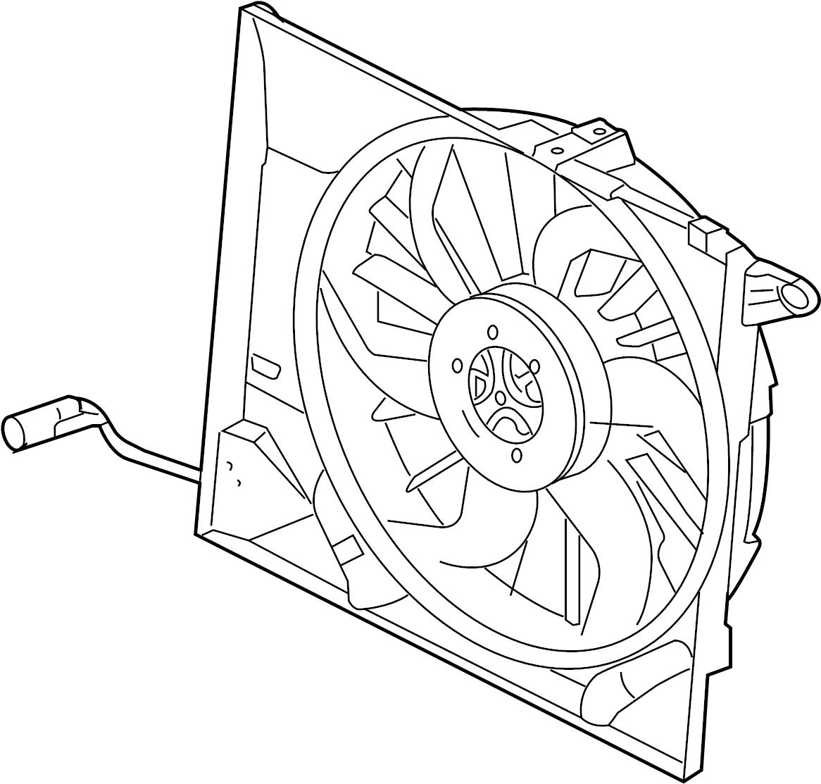 Jaguar XK8 Fan Motor. Includes: Fan, Motor & Shroud