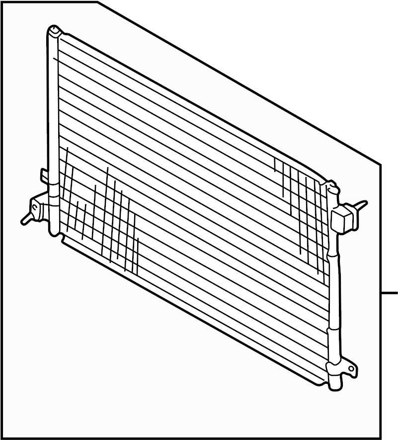 2007 Jaguar XKR Air conditioning (a/c) condenser. 3.0