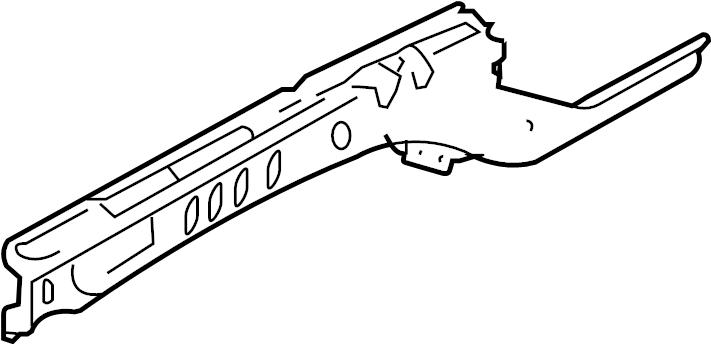 Jaguar S-Type Fender Rail Reinforcement (Rear, Upper