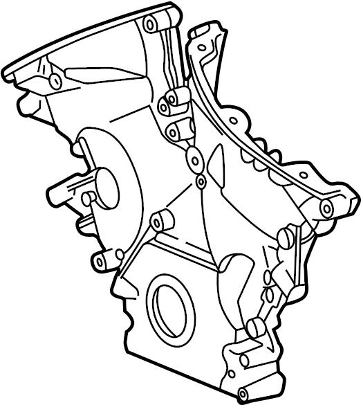 Jaguar S-Type Engine Timing Cover (Front). 3.0 LITER. 3.0