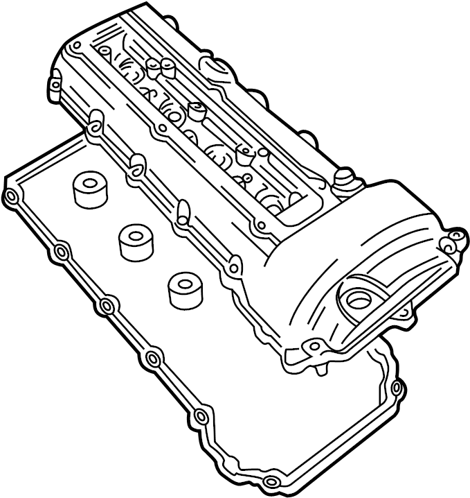 Jaguar XKR Gasket-camshaft. Valve cover gasket. 4.0 liter