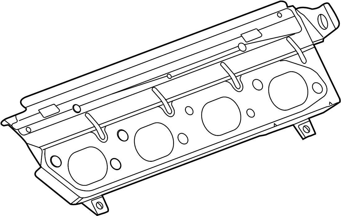 Jaguar S-Type Gasket. GASKET-EXHST MAN. Manifold gasket