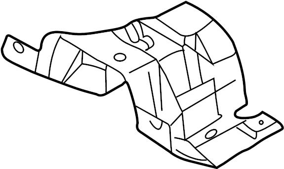Jaguar XF Floor Pan Heat Shield (Front). 4.2 LITER, front