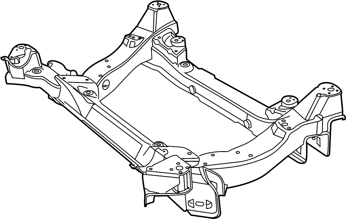 Jaguar XFR Suspension. Crossmember. Subframe. CROSSBEAM