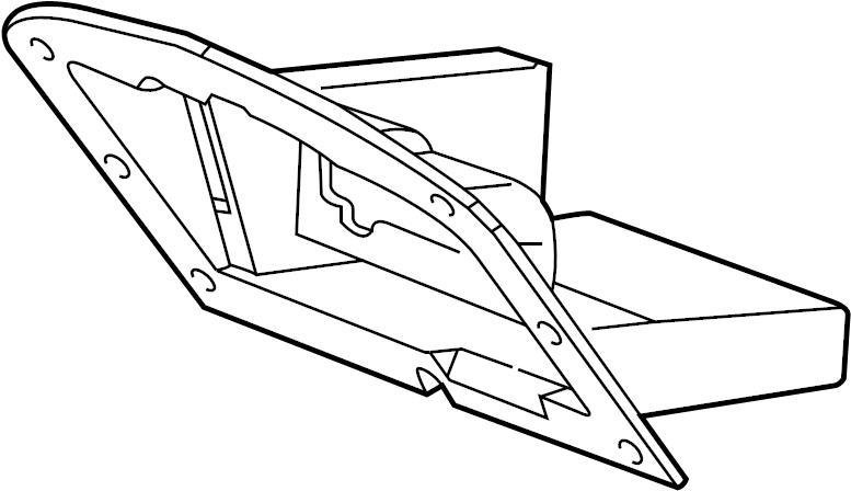 Jaguar S-Type Glove box frame. INSERT-GLOVEBOX. 2000-02, w