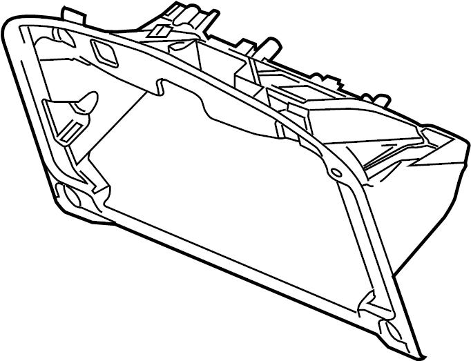 Jaguar S-Type Glove Box. Front; 2003-08; Glove box