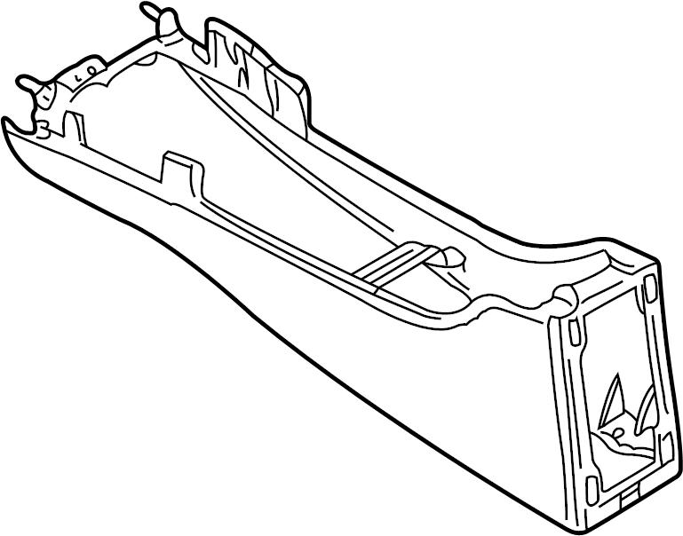 Jaguar S-Type Center Console. Console. Lower; 2000-02
