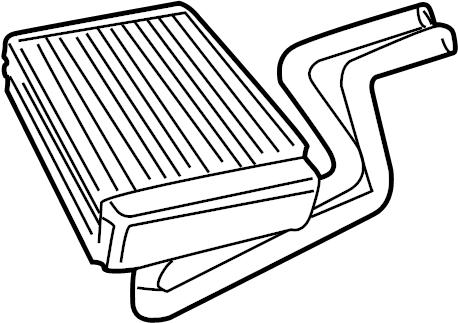 Jaguar X-Type Hvac heater core. Included with: ac & heater