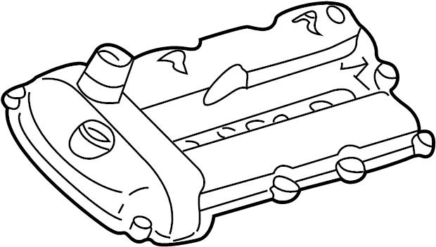 Jaguar X-Type Engine Valve Cover. Vin, Right, BEARINGS